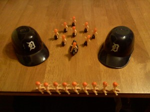9 Plastic Babies on 9 little black ducks with a 9 Plastic Baby Chorus Line