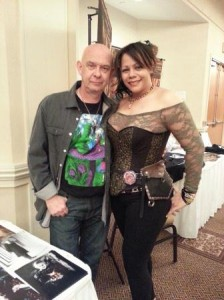 Doug Bradley is wickedly funny, and only looks shorter, but I'm in heels.