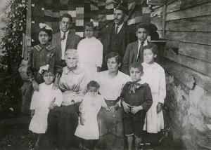 Isaac B Points (The Son) and family, circa 1917.