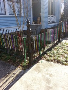 Mardi Gras was a few short weeks away and the beads were blossoming on every surface.