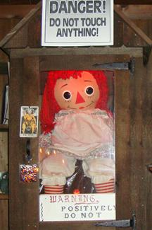 Annebelle, the haunted Doll Photo credit ©Love to know, The Warren's Occult Museum